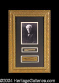 Autographs, Thomas Edison Handwritten Relic Framed Display