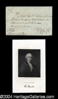 Autographs, Oliver Ellsworth Signed Pay Order c.1770
