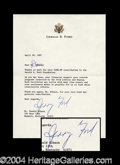Autographs, Gerald Ford Typed Letter Signed