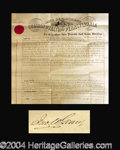 Autographs, John W. Geary (Civil War) Large Signed Document