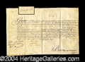 Autographs, George III French & Indian War Appointment