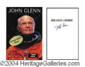 Autographs, John Glenn Signed First Edition Book