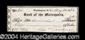 Autographs, Charles Goodyear Signed Bank Check
