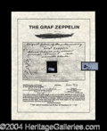 Autographs, Graf Zeppelin Original Fabric Swatch