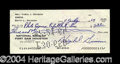 Autographs, Gus Grissom Scarce Signed Bank Check