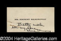 Autographs, Ernest Hemingway Signed Personal Card