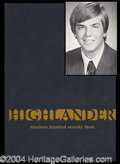Autographs, John Hinckley Jr. 1973 High School Yearbook