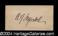 Autographs, R.G. Ingersoll Choice Ink Signature