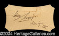 Autographs, Henry Irving Ink Signature c. 1885