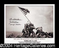 Autographs, Iwo Jima Flag Raising Photo Signed By Medal of Honor Recipients