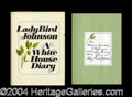 Autographs, Lady Bird Johnson Signed Hardcover Book