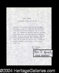 Autographs, Rose Kennedy Rare Signed Quote