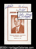 Autographs, John F. Kennedy Signed Program