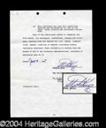 Autographs, Stephen King Rare Signed Document