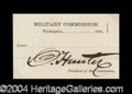 Autographs, Abraham Lincoln Assassination Trial Ticket