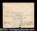 Autographs, Franz Liszt Scarce Signed Envelope