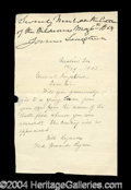 Autographs, James Longstreet Civil War Rare Ink Signature