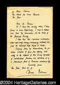 Autographs, Thomas Mann Handwritten Letter Signed w/ Great Content