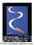 Autographs, Pierre Matisse Rare Signed Olympic Art Poster