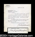Autographs, Hudson Maxim Typed Letter Signed