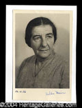 Autographs, Golda Meir (Israel) Rare Signed Photo