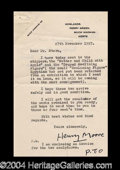 Autographs, Henry Moore Typed Letter Signed