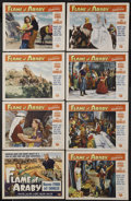 """Movie Posters:Adventure, Flame of Araby (Universal International, 1951). Lobby Card Set of 8 (11"""" X 14""""). Adventure.... (Total: 8 Items)"""