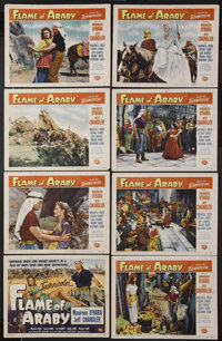 """Flame of Araby (Universal International, 1951). Lobby Card Set of 8 (11"""" X 14""""). Adventure.... (Total: 8 Items..."""
