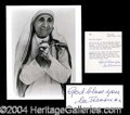 Autographs, Mother Teresa Typed Letter Signed