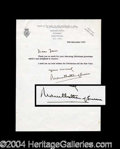Autographs, Mountbatten of Burma Signed Letter to Joan Crawford