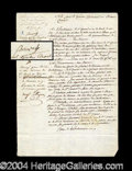 Autographs, Napoleon Signed Military Document c. 1800