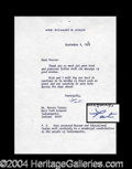 Autographs, Pat Nixon Typed Letter Signed