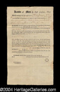Autographs, North American Land Company Orig. Document c. 1794