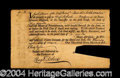 Autographs, Scarce Pennsylvania Hospital Subscription Certificate c. 1768