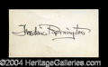 Autographs, Frederic Remington Rare Ink Signature