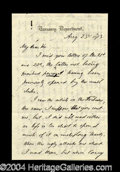 Autographs, William A. Richardson Handwritten Letter Signed