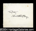 Autographs, James Whitcomb Riley Ink Signature
