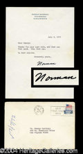 Autographs, Norman Rockwell Typed Letter Signed