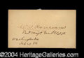 Autographs, William S. Rosecrans Civil War Ink Signature