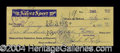Autographs, Jack Ruby Signed 1950 Bank Check
