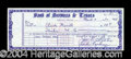 Autographs, Jack Ruby Signed Bank Check
