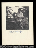 Autographs, Albert Schweitzer Scarce Signed Photograph