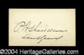 Autographs, Philip H. Sheridan Civil War Ink Signature