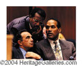 Autographs, O.J. Simpson & Johnnie Cochran Signed 11 x 14 Photo