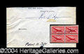 Autographs, Robert A. Taft Signed Letter & Stamp Block