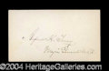 Autographs, Alfred H. Terry Civil War Ink Signature