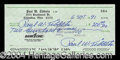Autographs, Paul Tibbets Rare Triple Signed Check