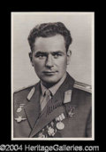 Autographs, German S. Titov Signed Photograph USSR