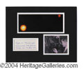 Autographs, Clyde W. Tombaugh Pluto Signed Matted Display