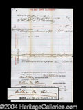 Autographs, William Boss Tweed Large Signed Document